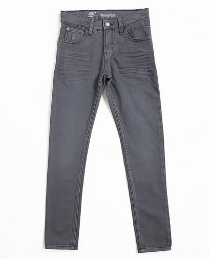 Grijze skinny jeans, sweat denim